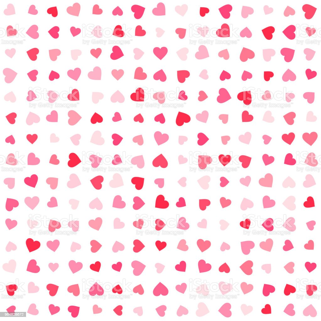 Vector pink & red Valentines Day heartshapes background element in flat style royalty-free vector pink red valentines day heartshapes background element in flat style stock vector art & more images of abstract