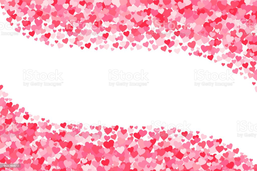 Vector Pink Red Valentines Days Hearts Background Stock Vector Art