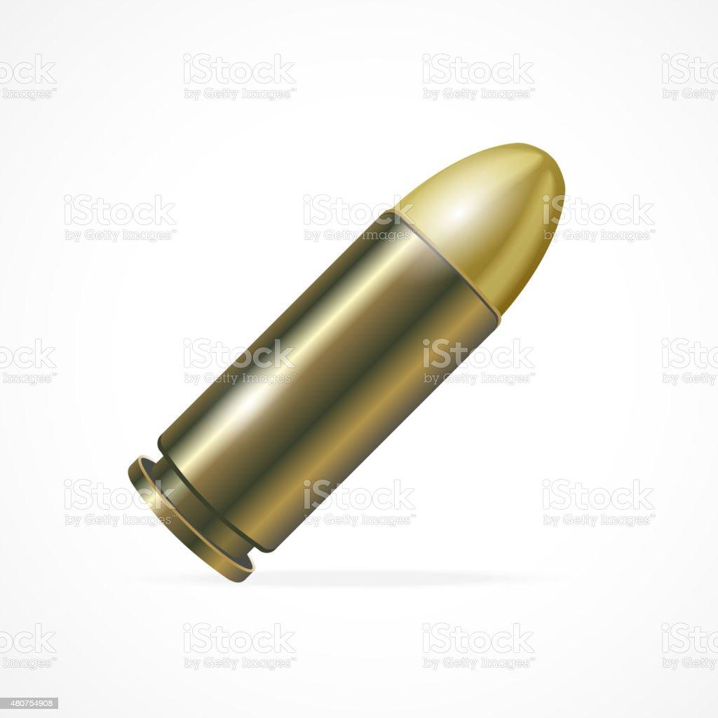 Vector Pistol Bullet vector art illustration
