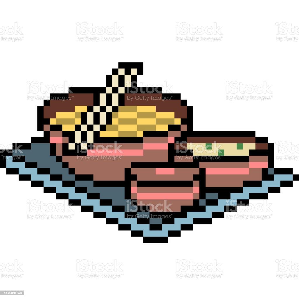 vector pixel art cartoon isolated vector art illustration