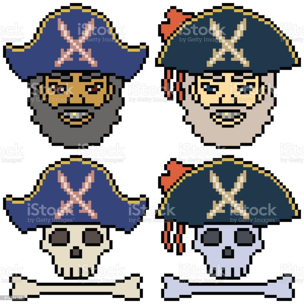Jeu De Dessin Animé Vectorielles En Pixel Art Vecteurs