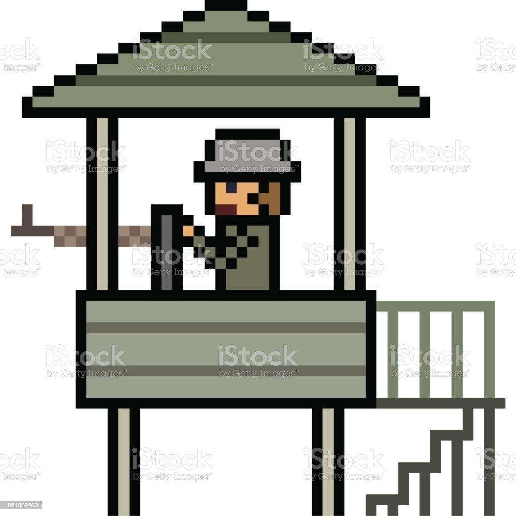 Caricature De Vecteur Pixel Art Vecteurs Libres De Droits Et Plus Dimages Vectorielles De Arme à Feu