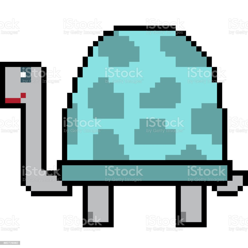 vector pixel art cartoon vector art illustration