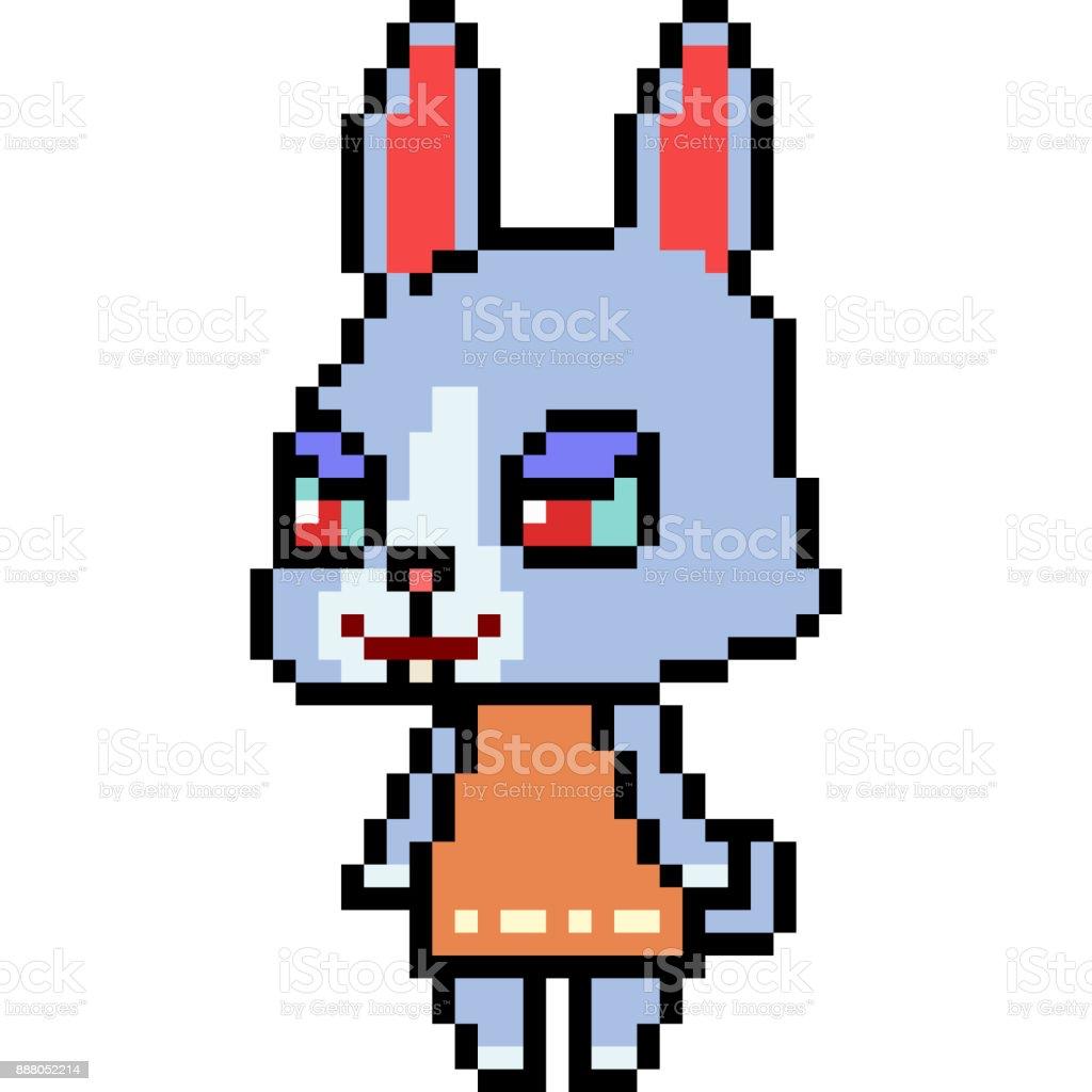 Caricature De Vecteur Pixel Art Vecteurs Libres De Droits Et