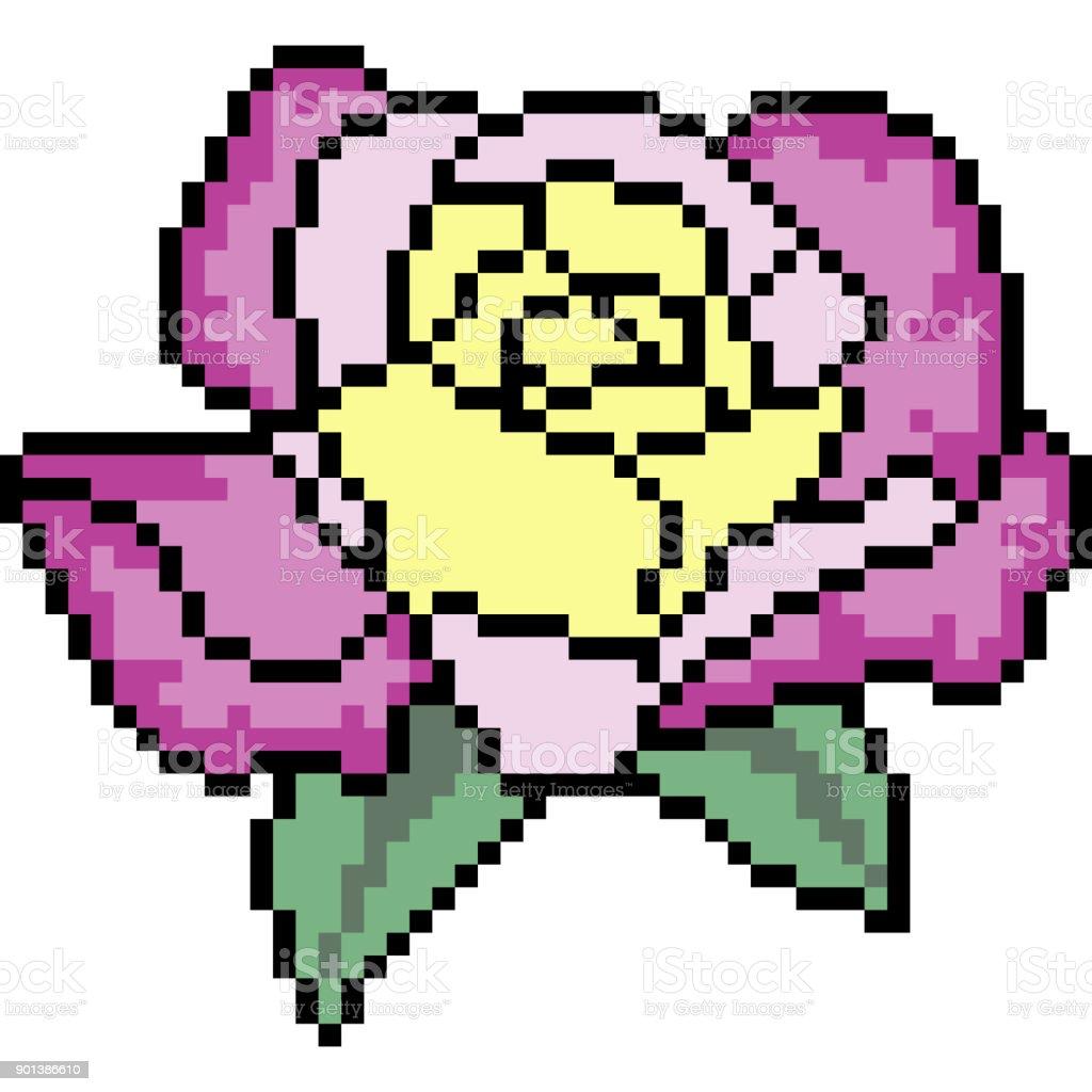 Vector Pixel Art Cartoon Stock Illustration Download Image