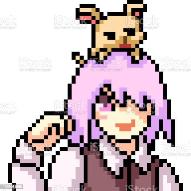 Dog Faces Pixel Art Icons Download Free Vectors Clipart