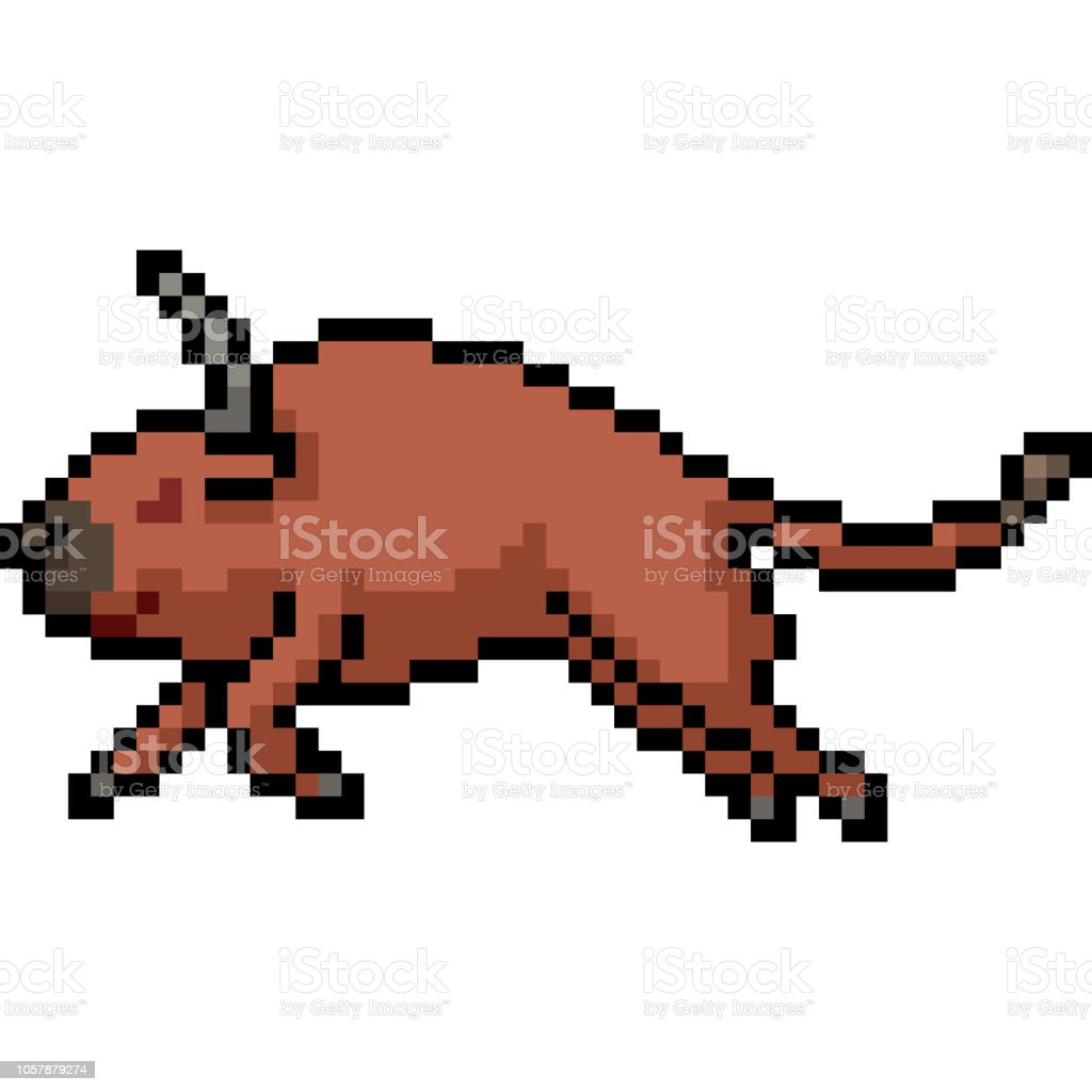vector pixel art isolated cartoon vector art illustration