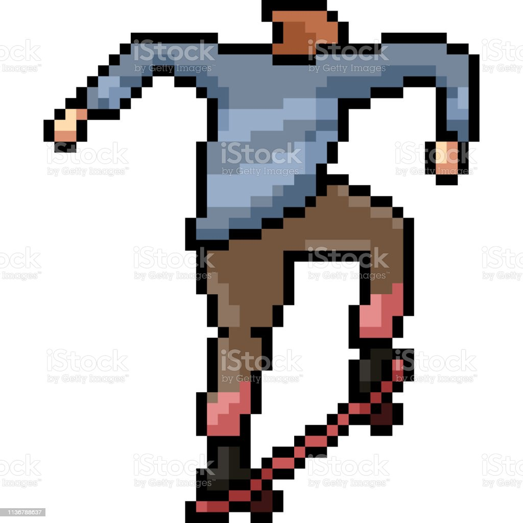 Vector Pixel Art Isolated Cartoon Stock Illustration Download Image Now Istock