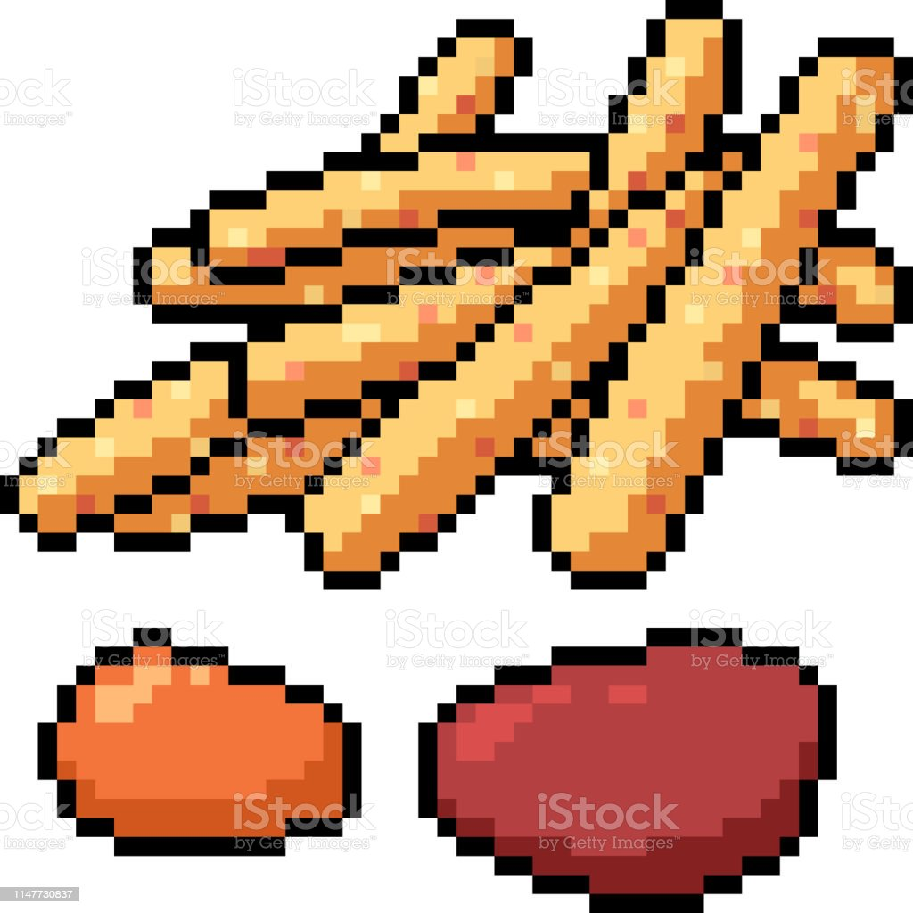Vecteur Pixel Art Isolé Cartoon Vecteurs Libres De Droits Et