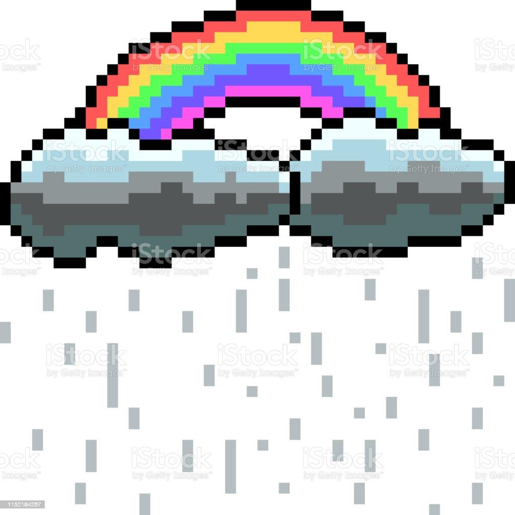 Vecteur Pixel Art Isole Cartoon Vecteurs Libres De Droits Et Plus D Images Vectorielles De Arc En Ciel Istock