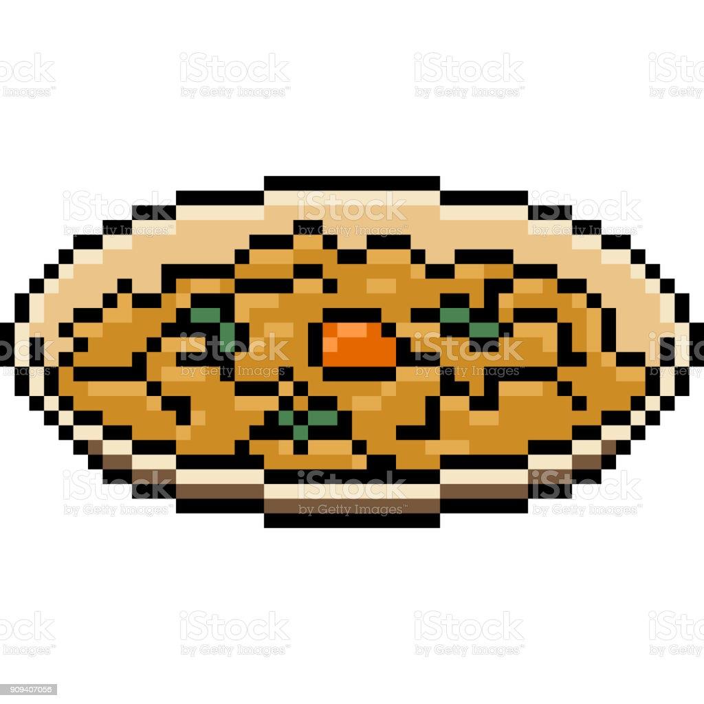 vector pixel art isolated cartoon vector art illustration