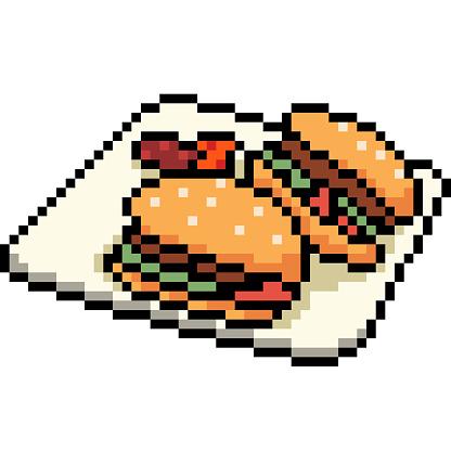 Dessin Anime Isole Vecteur Pixel Art Vecteurs Libres De Droits Et Plus D Images Vectorielles De Aliment Istock