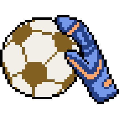Vector Pixel Art Isolated Cartoon Stock Illustration