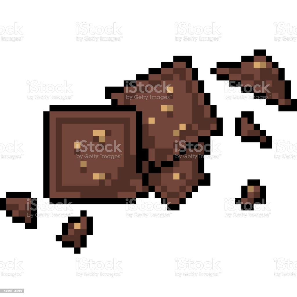 Dessin Animé Isolé Vecteur Pixel Art Vecteurs Libres De