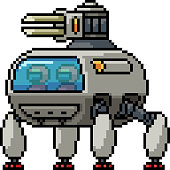 istock vector pixel art isolated spider tank 1211541160