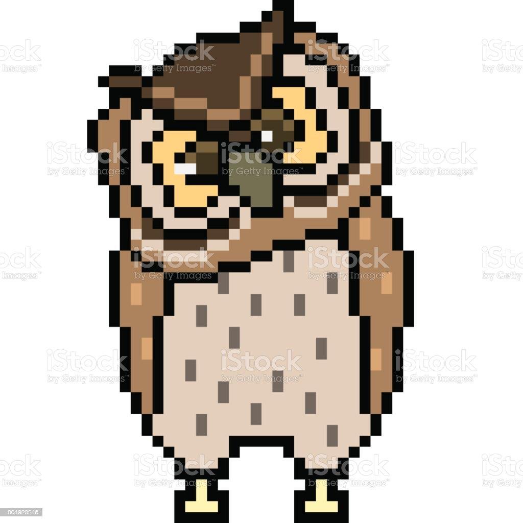 Chouette De Vecteur Pixel Art Vecteurs Libres De Droits Et