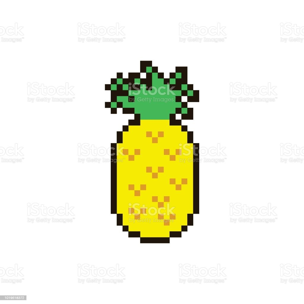 Vector Pixel Pinapple Stock Illustration Download Image