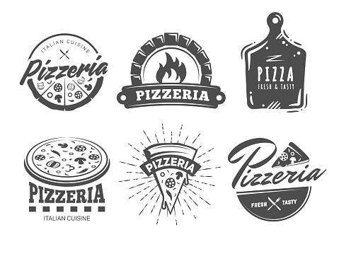 Vector pizza logos