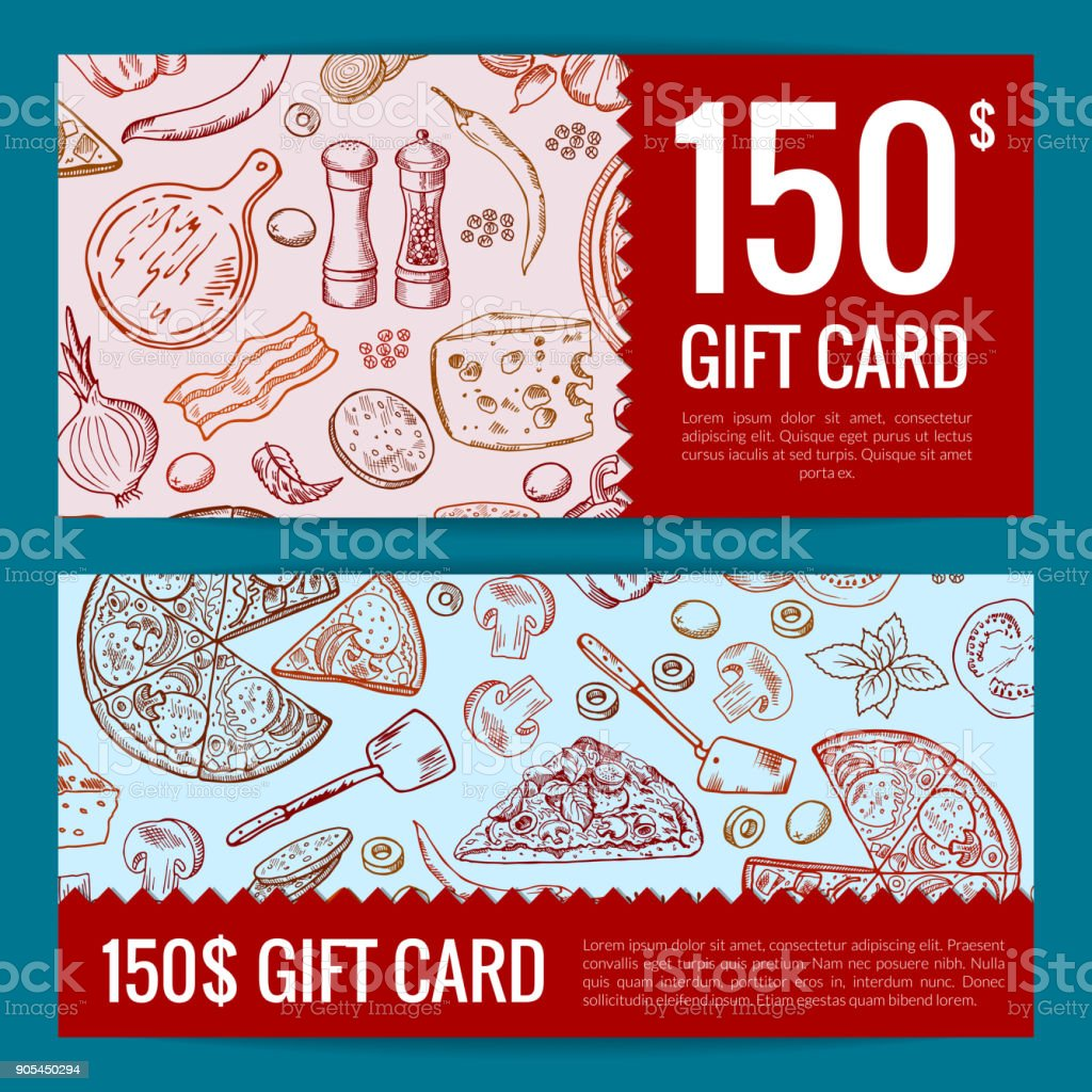 Vector Pizza Restaurant Or Shop Giftcard Or Discount