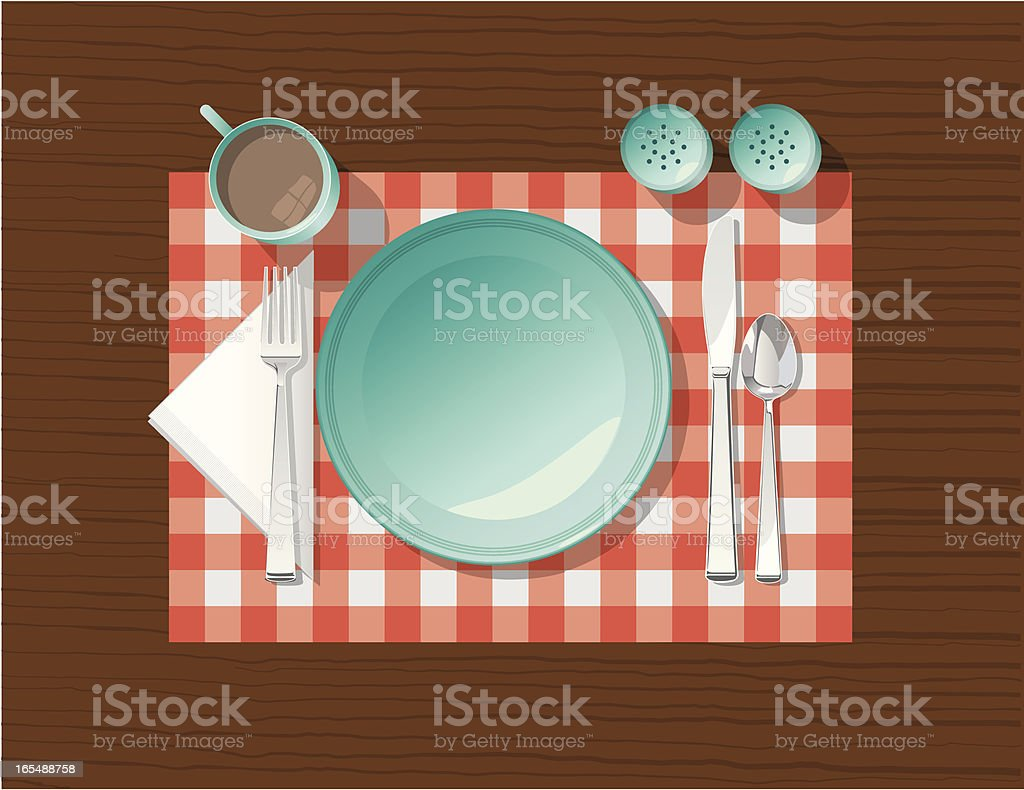 Vector Place Setting vector art illustration