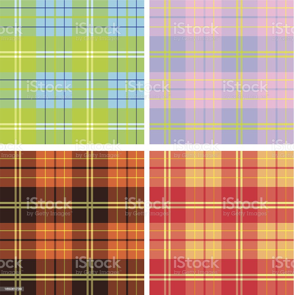 Vector plaid royalty-free stock vector art