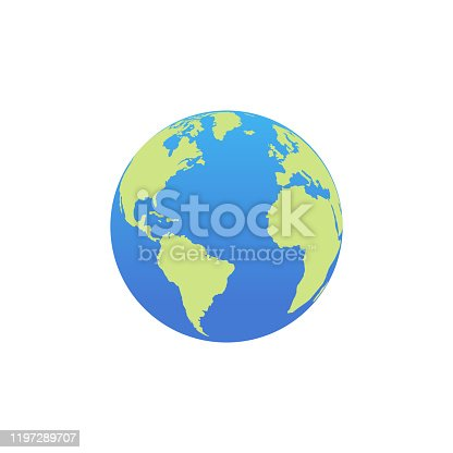istock Vector planet Earth icon. Flat planet Earth icon 1197289707