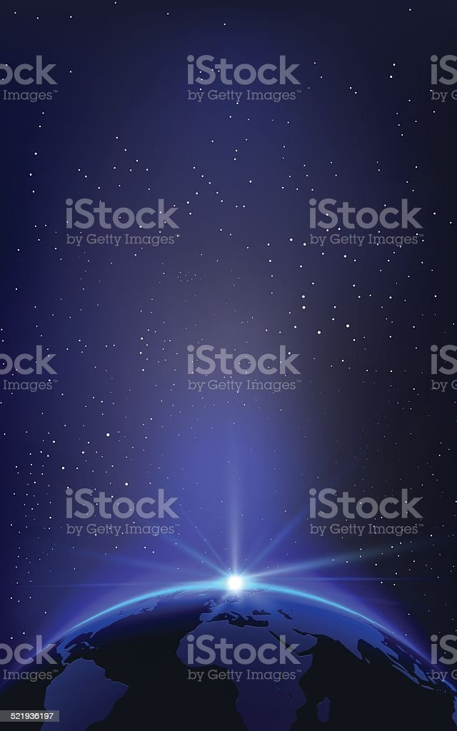 Vector Planet Earth Illustration and Space vector art illustration
