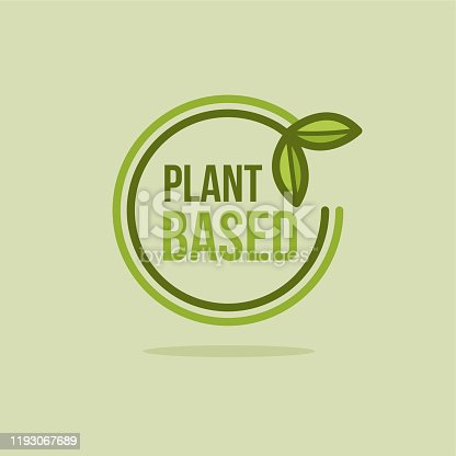 Green Vector Plant Based Icon. Illustration of Round Plant.