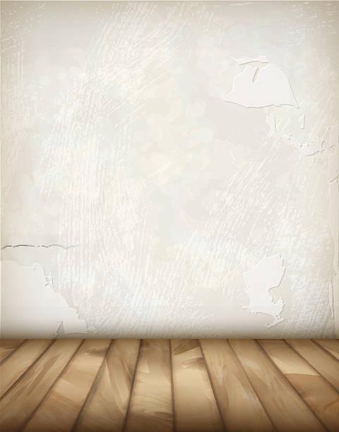 bildbanksillustrationer, clip art samt tecknat material och ikoner med vector plaster wall wood floor - wood stone