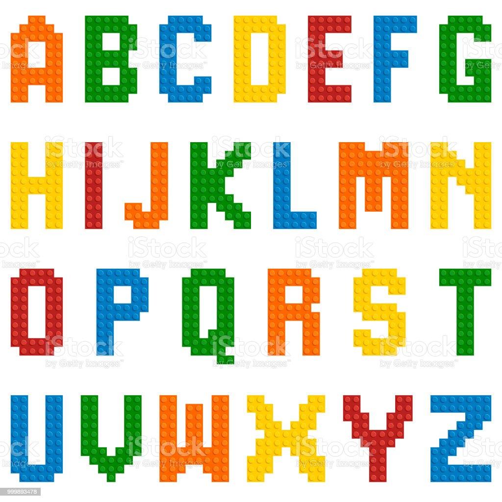Vector plastic toy alphabet