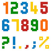 Vector numbers from plastic constructor.