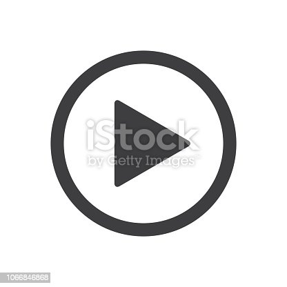 Vector Media Player Button Icon of Play action