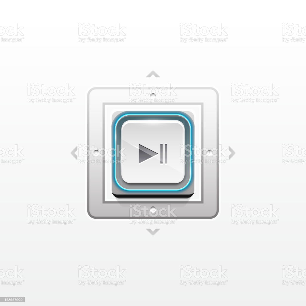 Vector play button royalty-free vector play button stock vector art & more images of black color