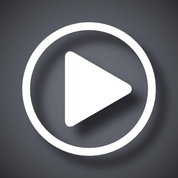 Vektor-play icon – Vektorgrafik
