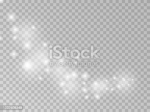 istock Vector png magic light effect falling star trail 1222926349