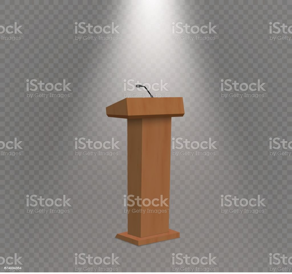 Vector Podium Tribune Rostrum Stand with Microphones royalty-free vector podium tribune rostrum stand with microphones stock vector art & more images of 3-d glasses