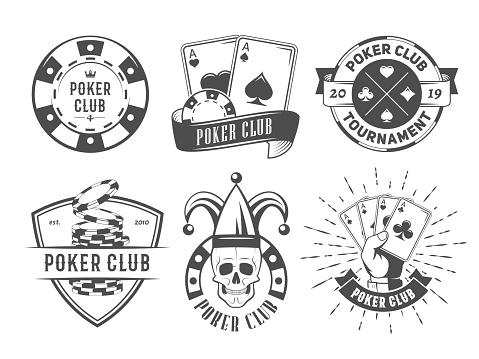 Vector poker club logos.
