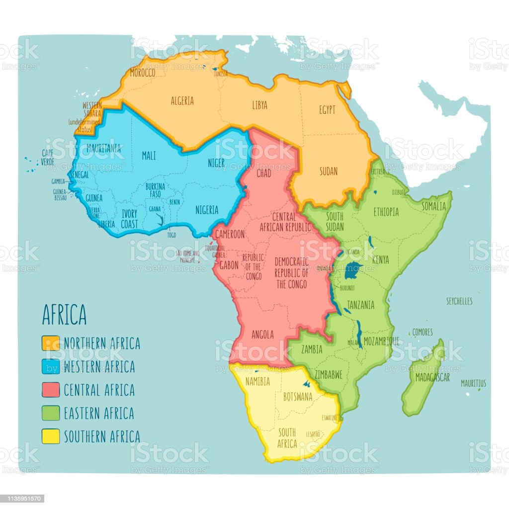 Vector Political Map Of Africa 5 Regions Of Africa Stock ... on map of northern oceans, map of northern thailand, map of northern europe, map of northern greenland, map of northern france, map of northern us & canada, map of northern russia, map of northern brazil, map of northern egypt, map of northern lebanon, map of northern yellowstone, map of northern uk, map of northern south america, map of northern fiji, map of northern new guinea, map of northern jordan, map of northern saudi arabia, map of northern ukraine, map of northern caribbean, map of northern united states of america,