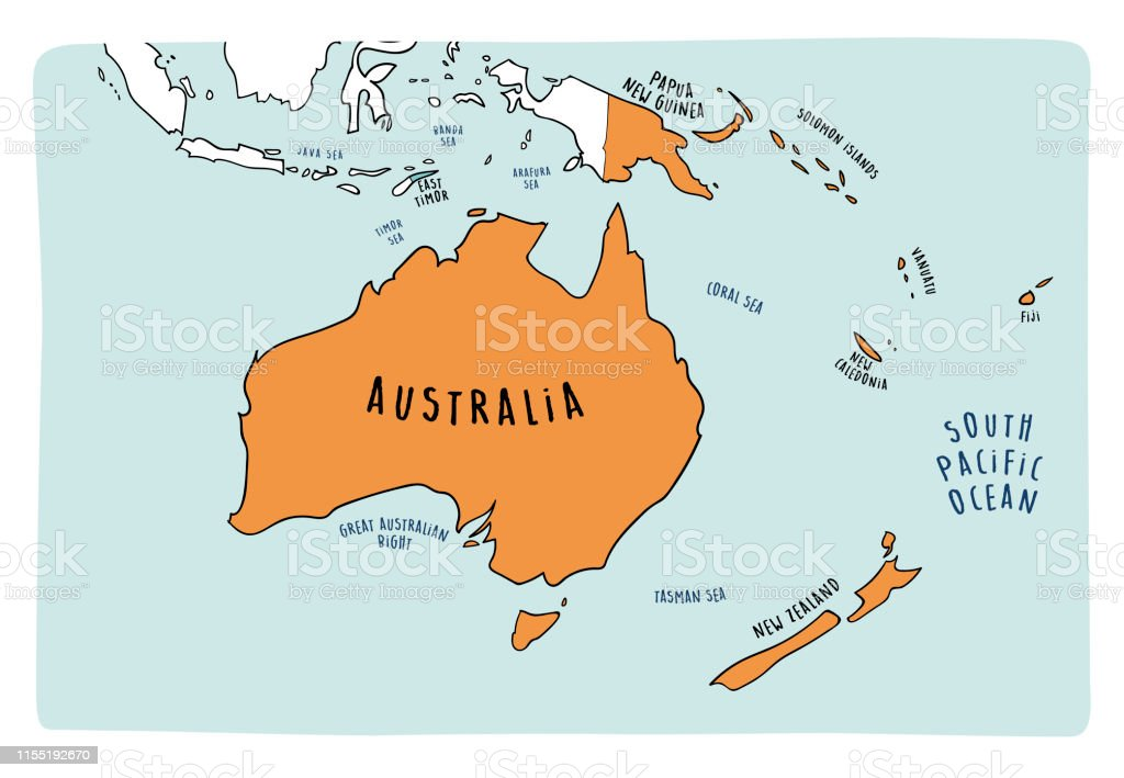 Vector Political Map Of Australia Stock Vector Art & More ...