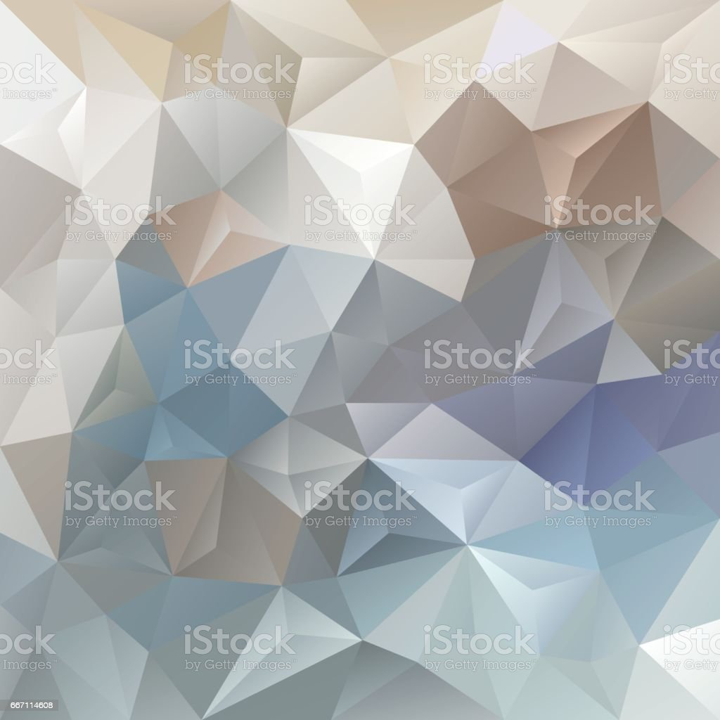 vector polygon background with a triangle pattern in light beige gray blue color vector art illustration