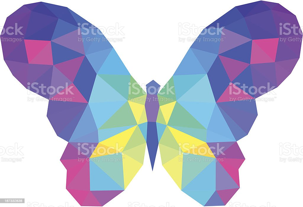 vector polygonal butterfly royalty-free vector polygonal butterfly stock vector art & more images of botany