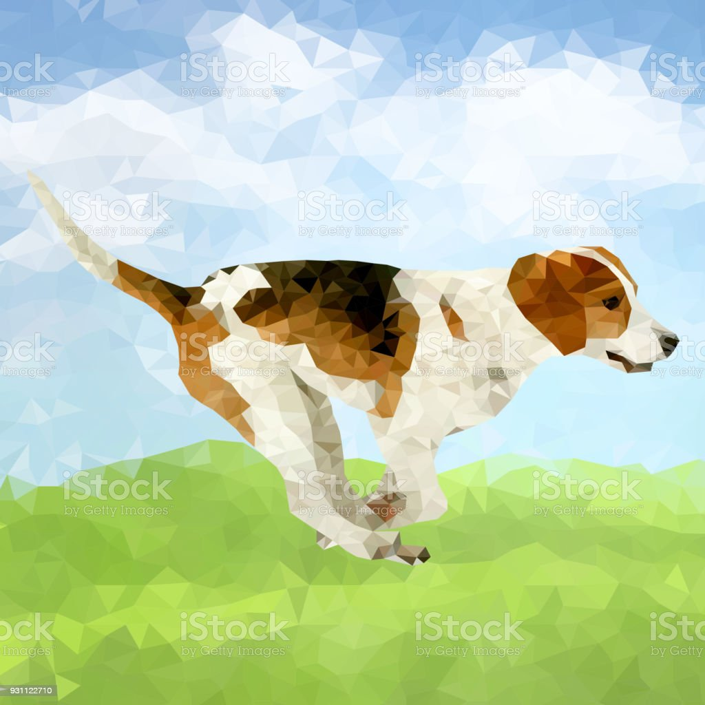 Vektör poligonal köpekler siluetleri - Royalty-free Arkadaşlık Vector Art
