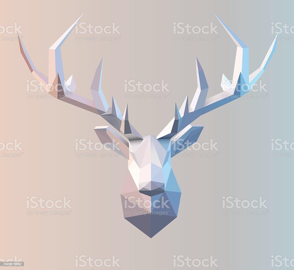 Vector Polygonal Stag vector art illustration