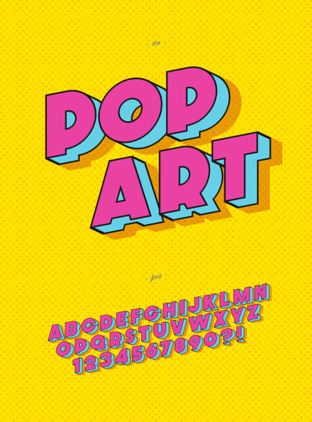 Vector pop art font 3d bold style modern typography Vector pop art font 3d bold style modern typography sans serif style for book, promotion, poster, decoration, t shirt, sale banner, printing on fabric. Cool 3d bold typeface. Trendy alphabet. 10 eps political party stock illustrations