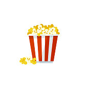 istock Vector popcorn icon on a white background 931419844