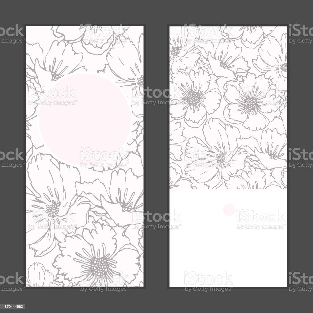Ilustración De Flores De Amapola Vector Vertical Redondo