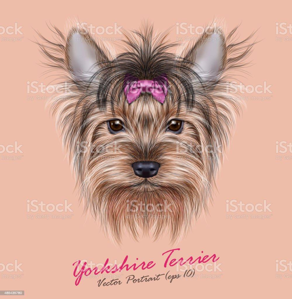Vector Portrait of a Domestic Dog