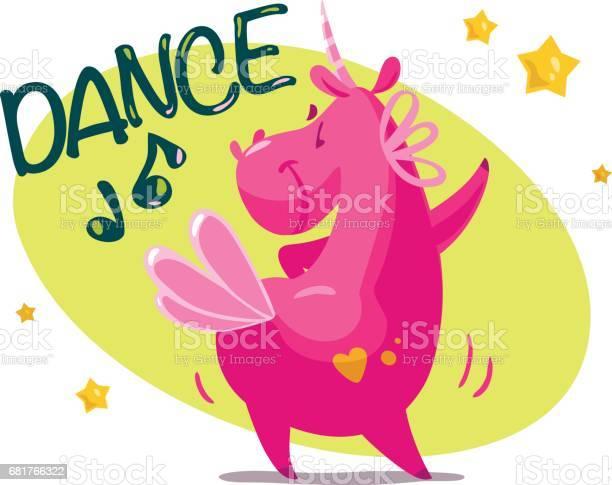 Vector portrait of flat funny unicorn character dancing vector id681766322?b=1&k=6&m=681766322&s=612x612&h=dcbjdxlq3sosssqpf7z60ujfm0iqk2jdwjoszvtyq8o=
