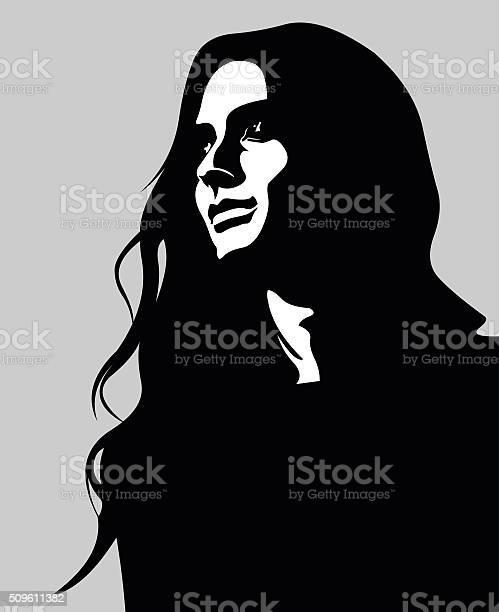 Vector portrait of pensive long hair woman looking up vector id509611382?b=1&k=6&m=509611382&s=612x612&h=ld4lqe oxb63ju9an6elug6cnb9tanf8wklbsbweb7i=