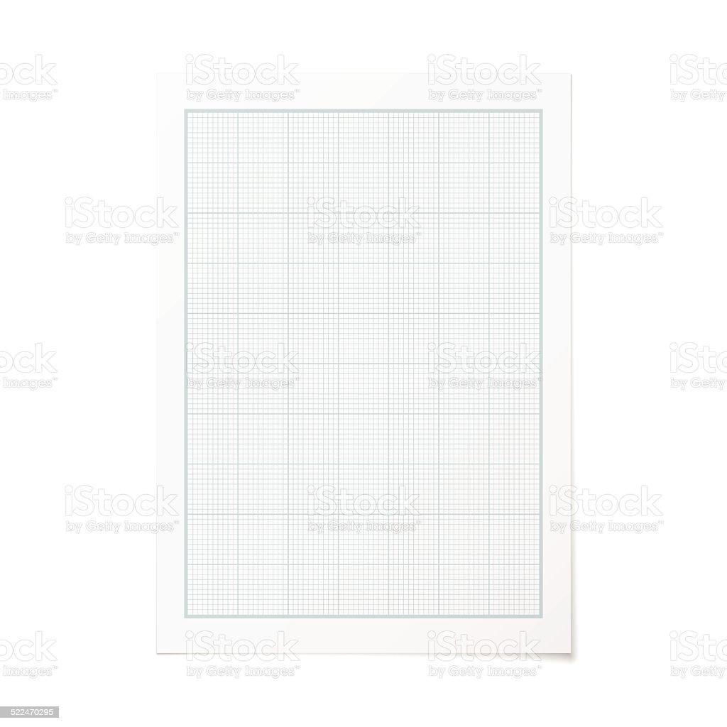 vector portrait orientation engineering graph paper stock vector art